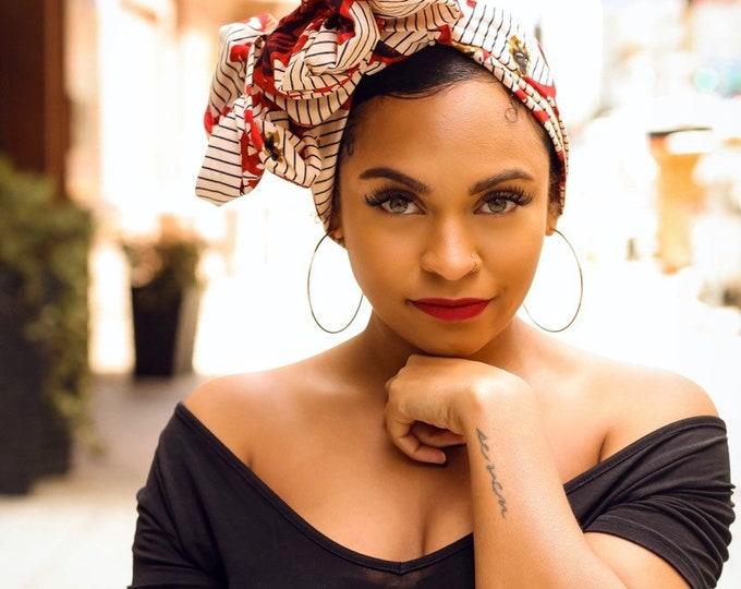 Turban Wax, Women's Headwrap, African Headwrap, Red Headwrap, Mother's Day Gifts, Kids Headwraps