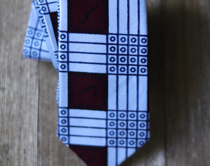 African Fabric Tie, Turban Wax, White Tie, Wedding Tie