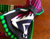 African Print Bow tie, Unique bow tie, green bow tie, pink bowtie