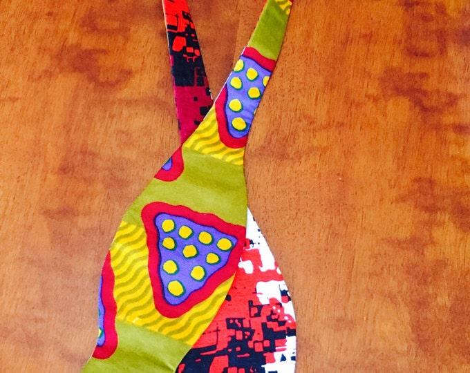 African print bow tie, self-tie bow tie, bow tie, neck tie