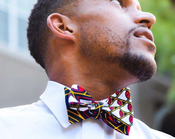 Ankara bow tie, African fabric bow tie, Wax bow tie, wedding bow tie, groomsmen bowtie