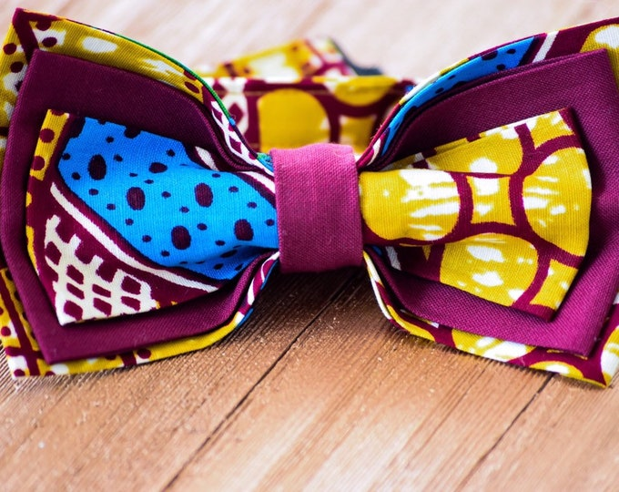 Ankara Bowtie, Pre-tied Bowtie, Wedding Bowtie, Groomsmen, Men's Accessories