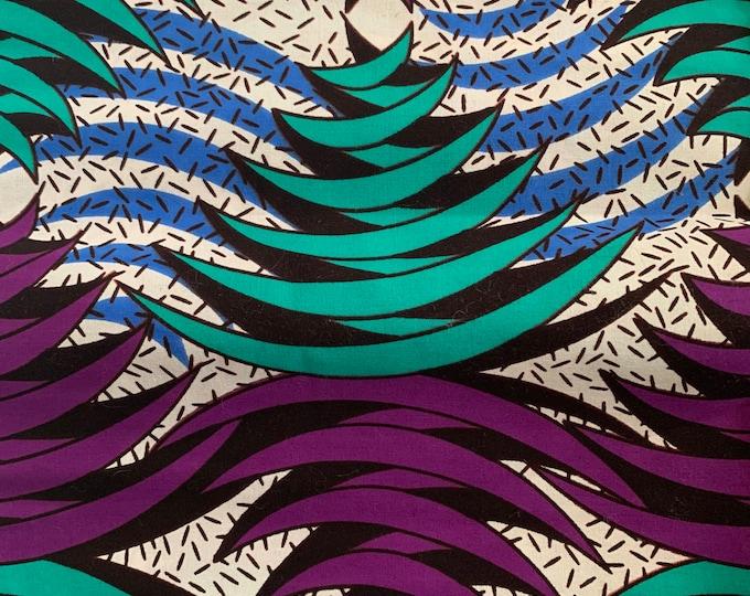 African Print Turban, Turban Wax, Purple Headwrap, Women's Turban