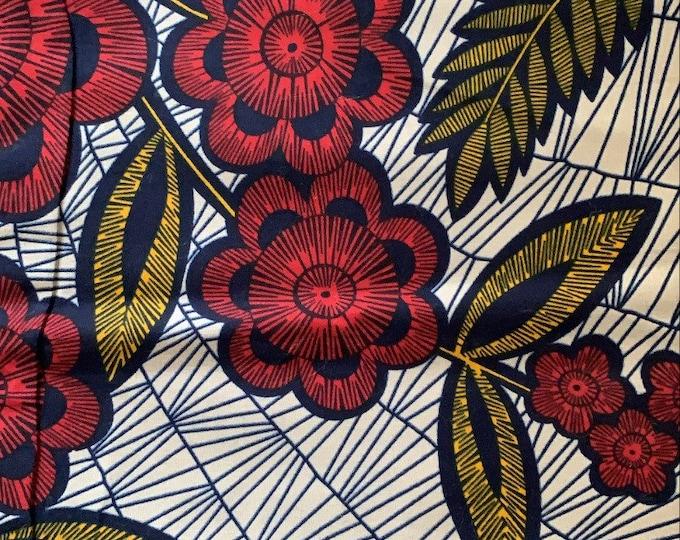 Turban Wax, Ankara Turban, Ankara Headwrap, Red Headwrap, African Print Headwrap