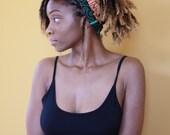 Turban Wax, African Fabric Headwrap, African Headwrap, Women's Headwrap, Green Headwrap