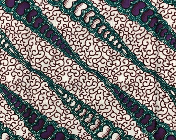 Turban Wax, Ankara Headwrap, Purple and Green Headwrap