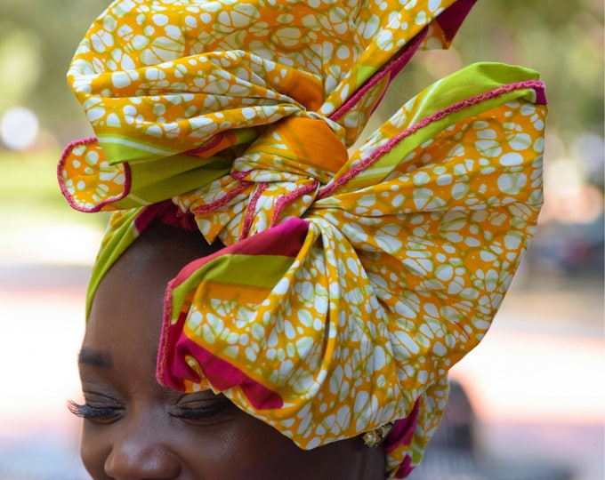 Turban wax, Headwrap, African headwrap, Women's headwrap