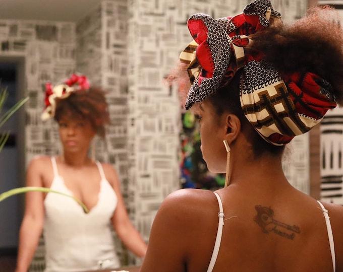 Turban Wax, Ankara Wax, Red Headwrap, Women's Headwrap