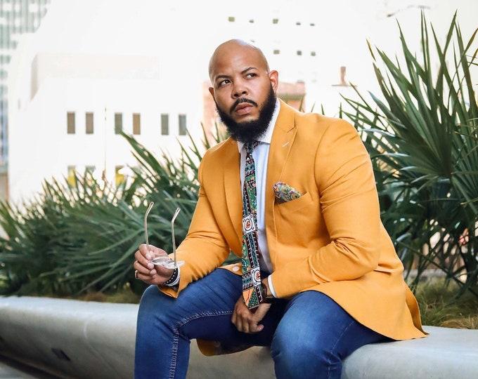 African Print Necktie, Wedding Tie, Men's Tie, Gift Idea