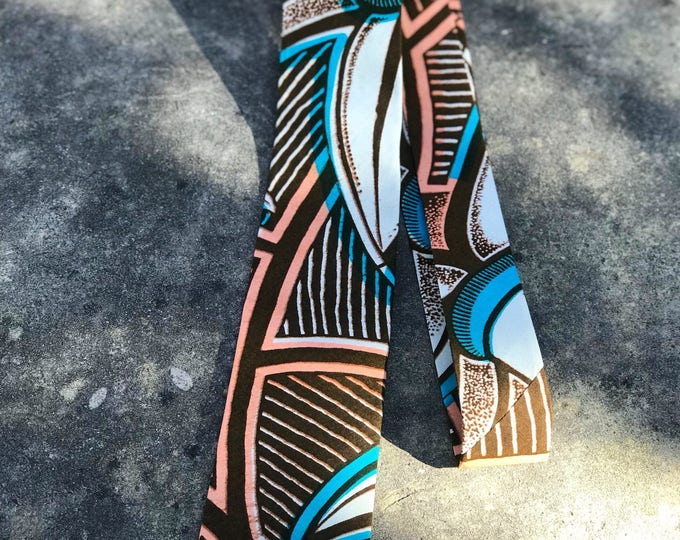 Ankara necktie, Wedding necktie, African fabric necktie, Groomsmen necktie