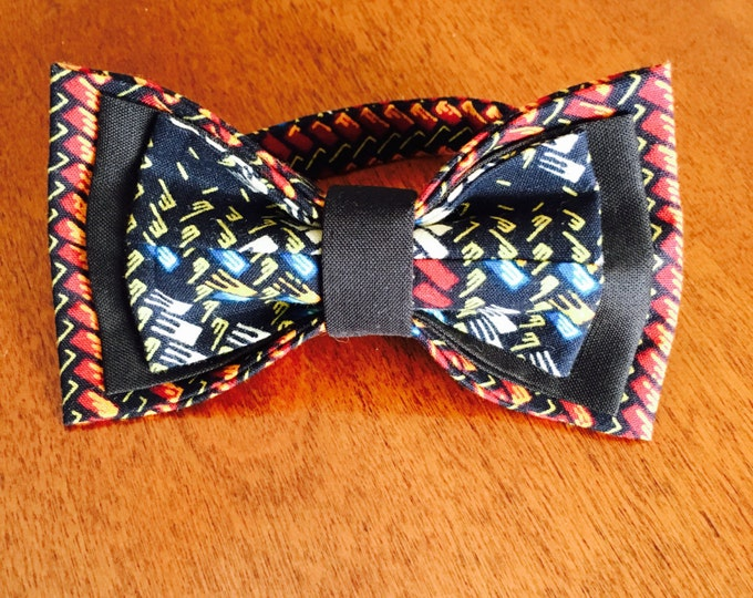 Black African Bow Tie, Unique Bow Tie, Bow Tie, Ankara bow tie, Nigerian bow tie, Bow Tie for men, Bow Tie for women, Bow Tie for kids