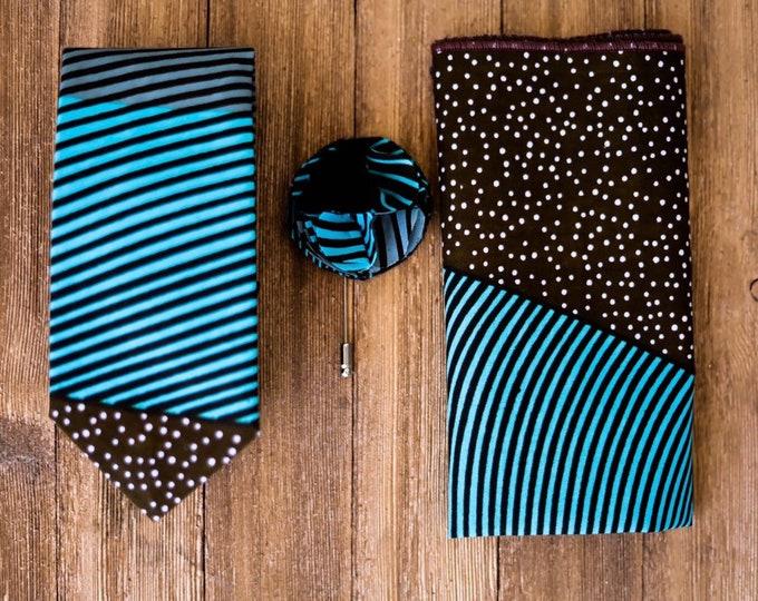 Ankara Tie, Wax Print Tie, Wedding Tie, African Fabric Tie