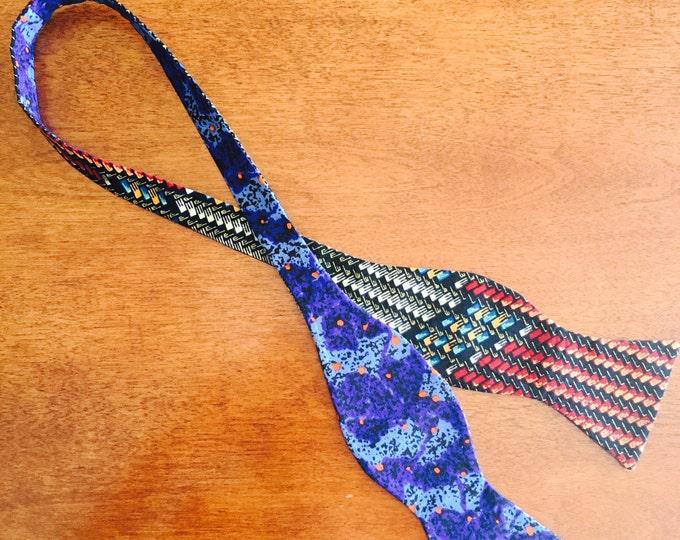 Self-Tie African Bow Tie, Unique Bow Tie, Ankara bow tie, Bow Tie for Men, Bow Tie for Women, Bow Tie, Reversible Bow Tie