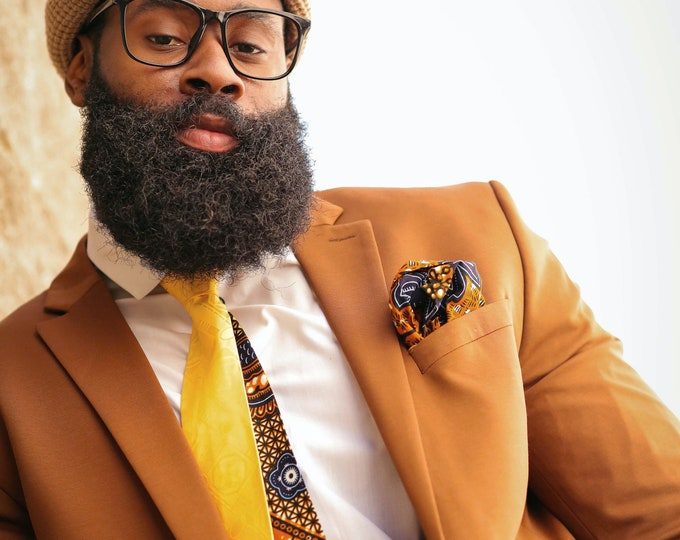 Ankara Necktie, Brocade Necktie, Wedding Necktie, Mixed Print Tie, Gifts for Him