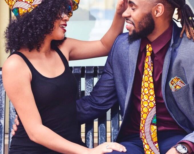 Ankara Necktie, Wedding Necktie, Groomsmen Necktie,