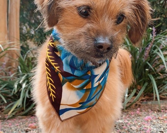 Flower Dog Collar- Bandana For Dogs- African Pet Bandana- Cute Dog Collar Gift For Birthday Gift- Adjustable Collar- Dog Accessories