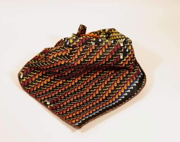 Dog Bandana, Pet Bandana, African Print Dog Bandana, Double sided bandana, Dog Collar, Dog Clothes, Dog Accessories, African Dog Clothes