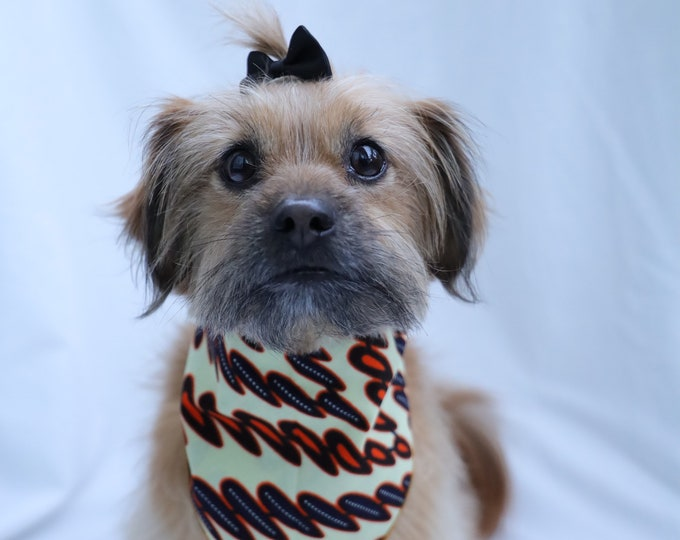 African Print Pet Neckwear, Dog Bandana, Dog Clothing, Dog Collar