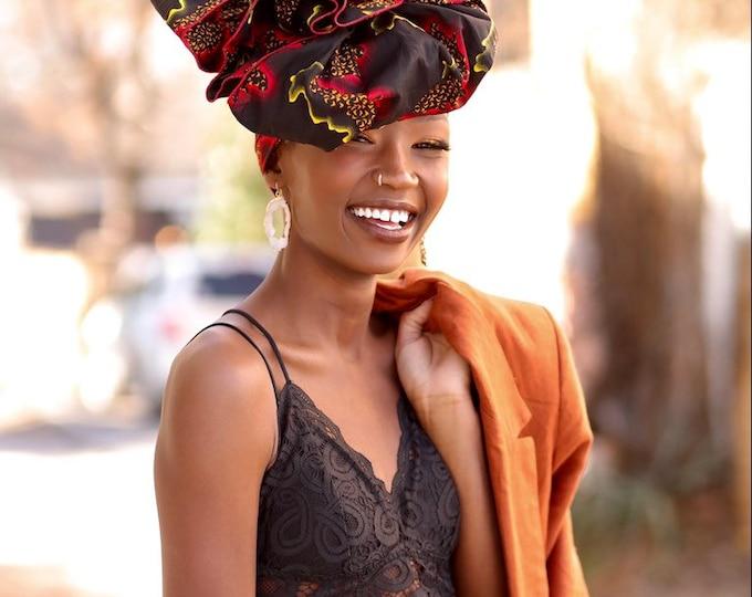 Turban Wax, Black Headwrap, Red Headwrap, Women's Headwrap, Women's Scarf