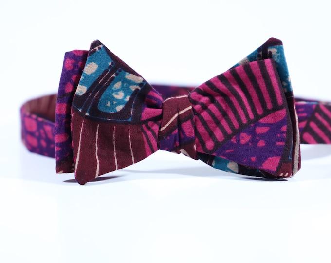 African Print Bowtie, Ankara Bow tie, Turban Wax, Ankara Headwrap