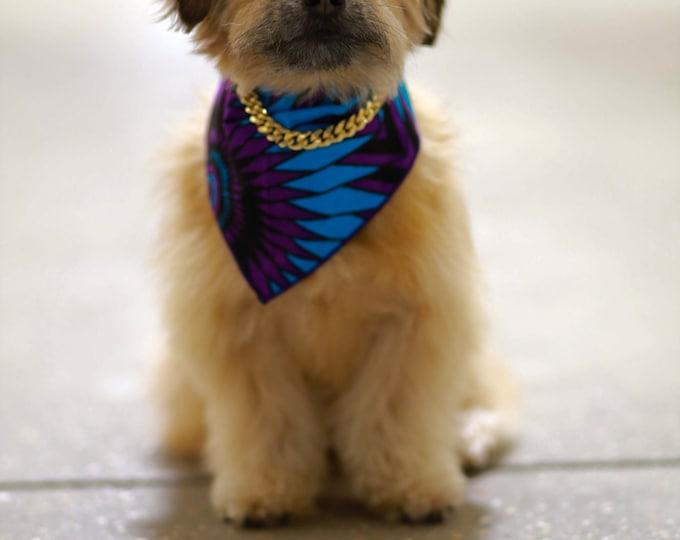 Dog Bandana, Ankara Dog Bandana, Pet Wear, Pet Accessories, Purple Dog Bandana,