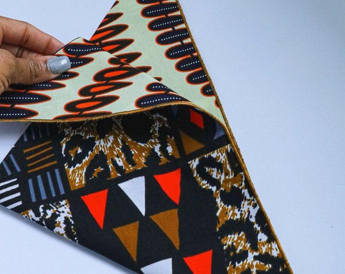 African Fabric Dog Bandana, Stylish Dog Bandana, Pet Neckwear, Mixed Print Fabric