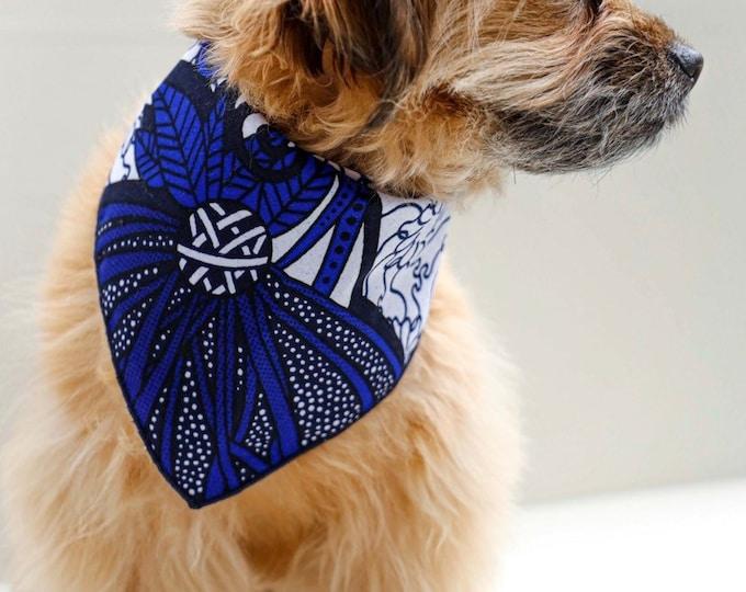 RESERVED LISTING African Dog Bandana, Bandana for Dogs, Green Bandana, Orange Bandana
