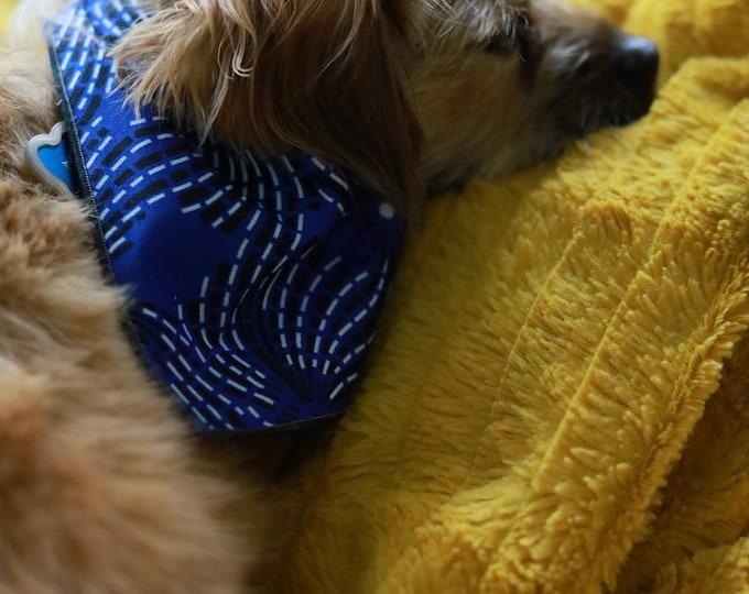 Ankara Dog Bandana, Blue Dog Bandana, Pet Neckwear, Pet Accessories