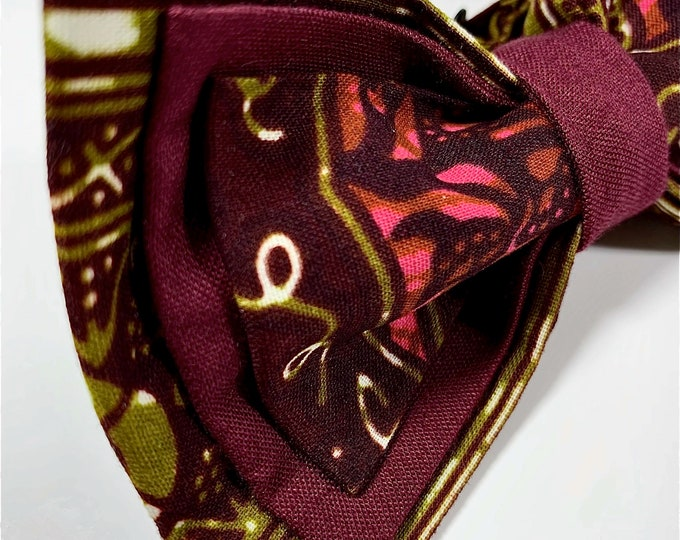African Fabric Bowtie, Men's Bowtie, Wedding Bowtie,