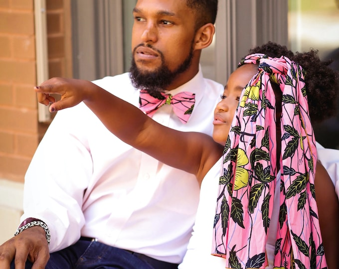 Turban Wax, Pink Headwrap, Pink Turban, African Headwrap, Ankara Scarf, Flower Headwrap, Gifts For Women, Kids Headwrap, Women's Scarves