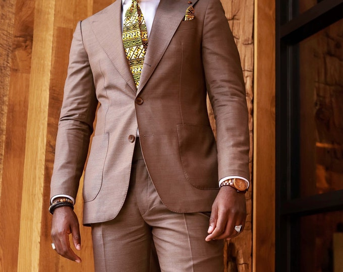 African Print Tie, Men's Tie, Gift Ideas, African Tie, Wedding Tie