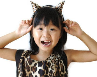leopard ears headband halloween headband cosplay leopard ears children leopard ears kids  sc 1 st  Etsy & Halloween costumes for kids | Etsy