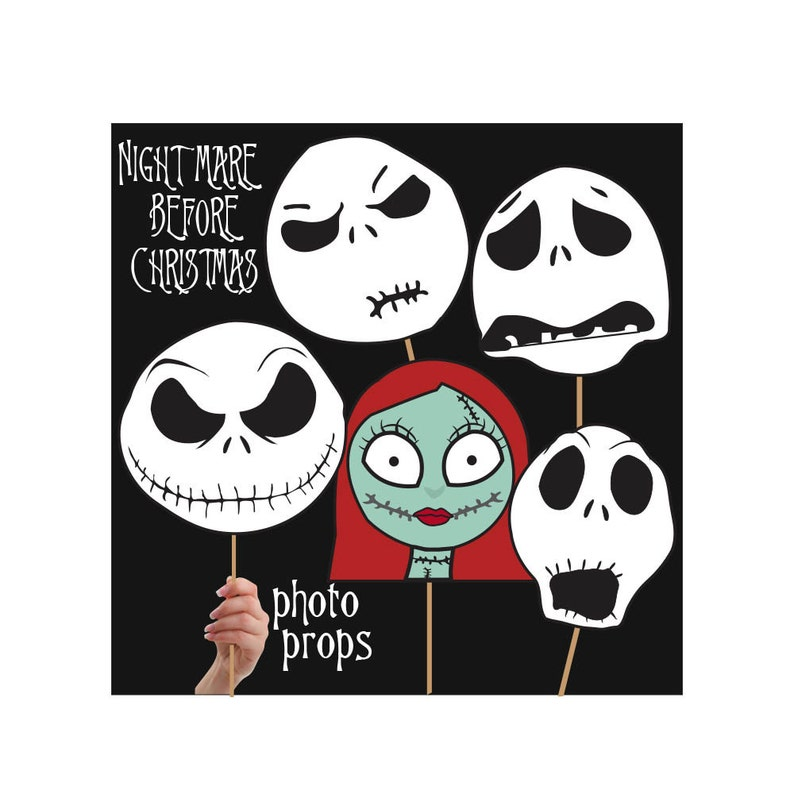 The Nightmare Before Christmas PhotoBooth Printable Prop image 0
