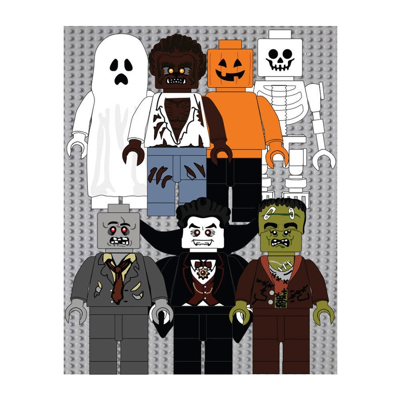 Everything is awesome lego movie halloween digital print image 0