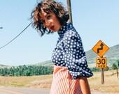 Vintage 60s Americanna Western Folk Dress with Puff Sleeves 60s Americanna Maxi Dress with Stars and Stripes Square Dancing Dress XS