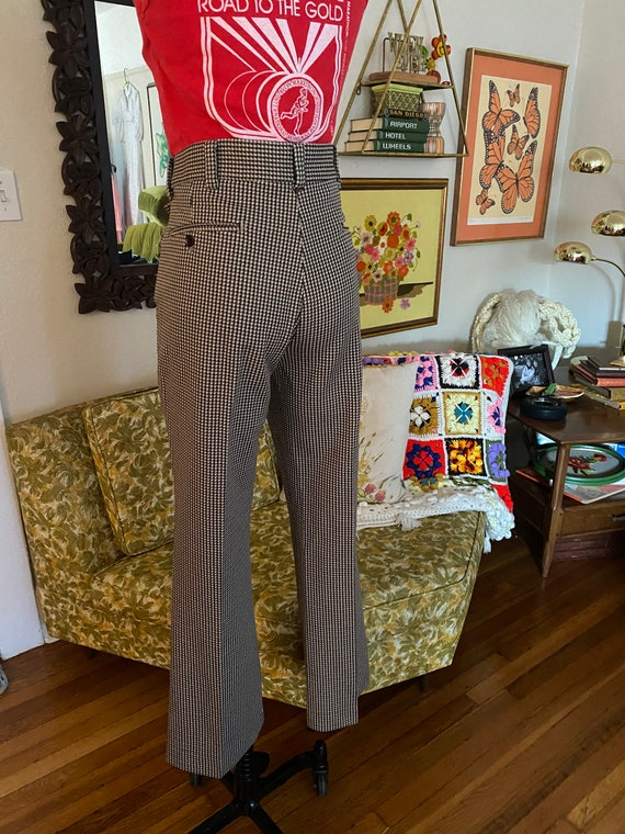 Vintage 70s High Waisted Brown, Yellow, and White… - image 6