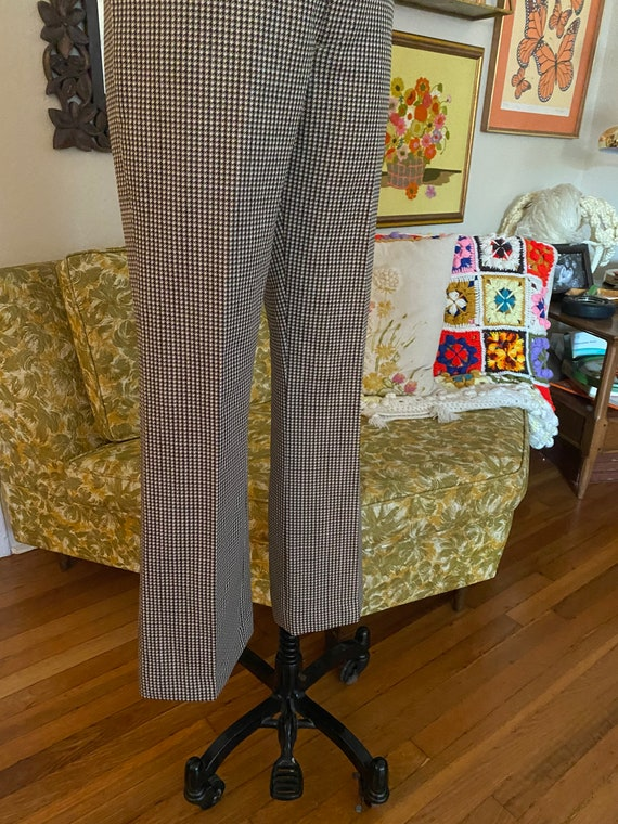 Vintage 70s High Waisted Brown, Yellow, and White… - image 4