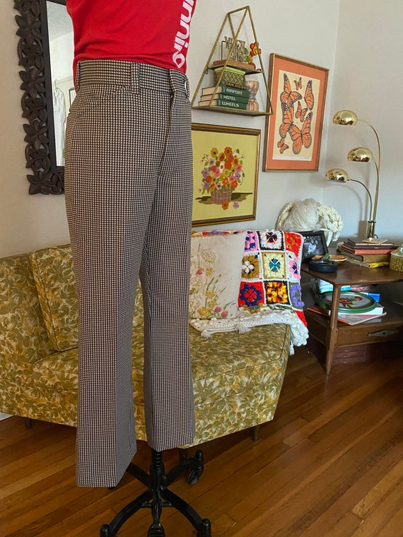 Vintage 70s High Waisted Brown, Yellow, and White… - image 2
