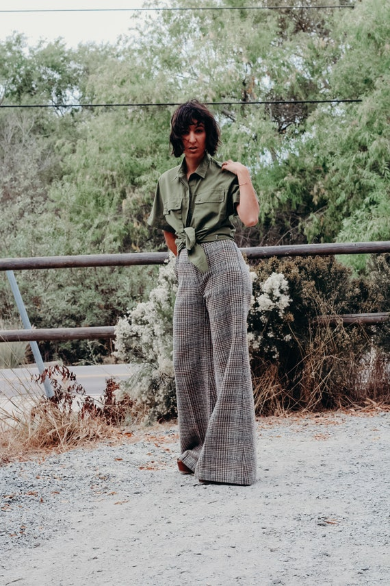 70s Vintage Bell Bottoms, 70s High Waisted Hounds… - image 6