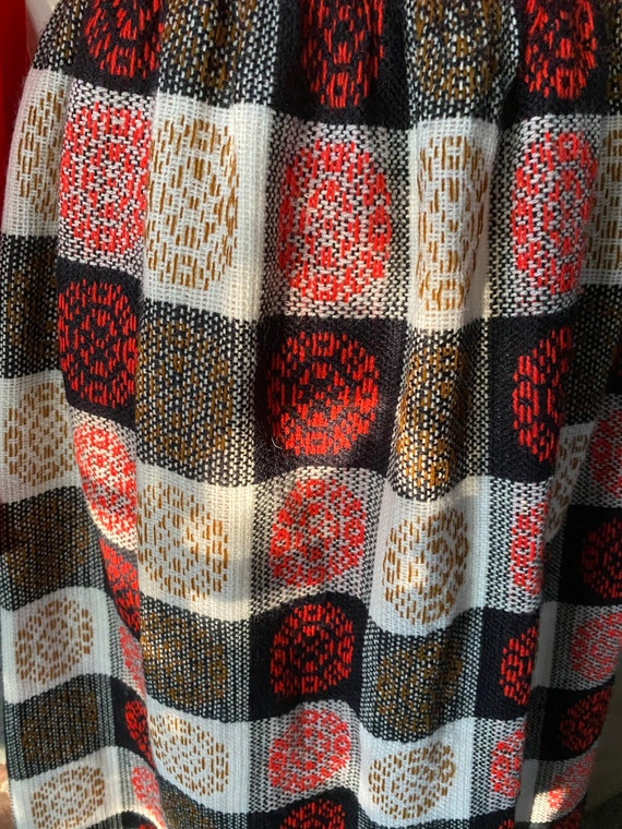 Vintage 60s Abstract Patchwork CheckerBoard Plaid… - image 3