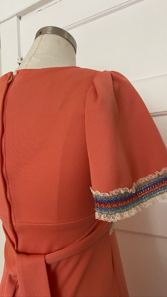 Vintage 70s Gunne Sax inspired Flutter Sleeve Max… - image 4