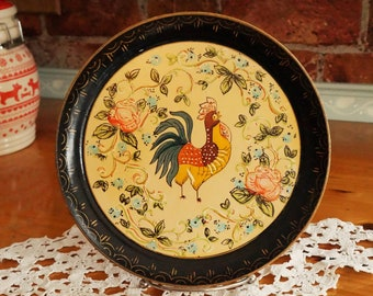 Vintage Tray Made in Japan Garden Scene Serving Piece Liquor Barware Bedside Tray Alcohol Proof Asian Design