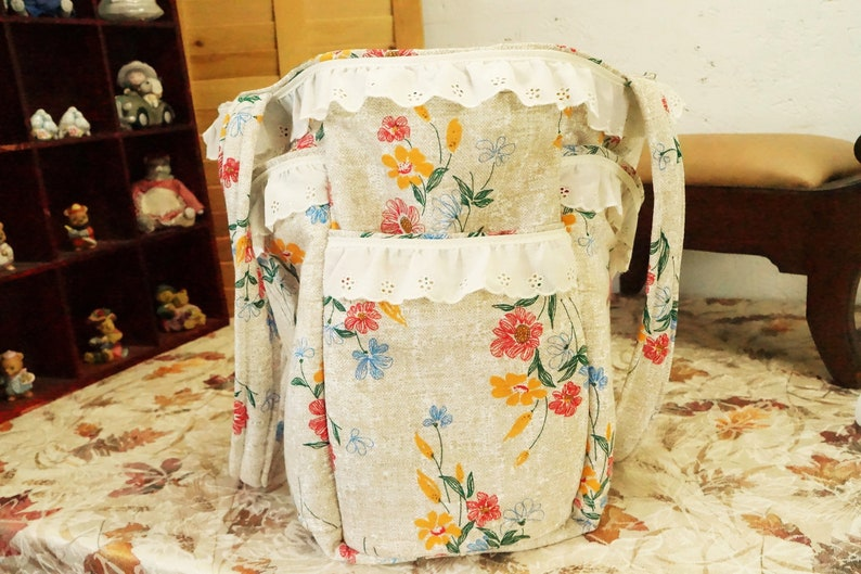 Extra Large ToteLight Floral ToteTote BagWhimsical Floral ToteTote With PocketsOfficeToteTravel ToteShoppingStanding ToteTeacher