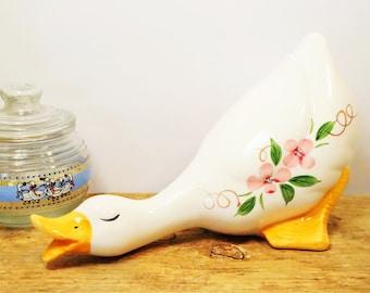 Duck Figurine/Goose Figurine/Country Duck Figurine/Farmhouse Duck/Ceramic Duck/Kitchen Duck/Ceramic Goose/Kitchen Geese/Large/Country Duck