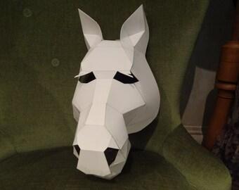 Cardboard mask etsy make your own horse mask from cardboard digital download diy mask maxwellsz