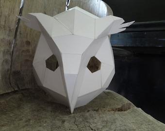 Diy Cardboard Mask Etsy
