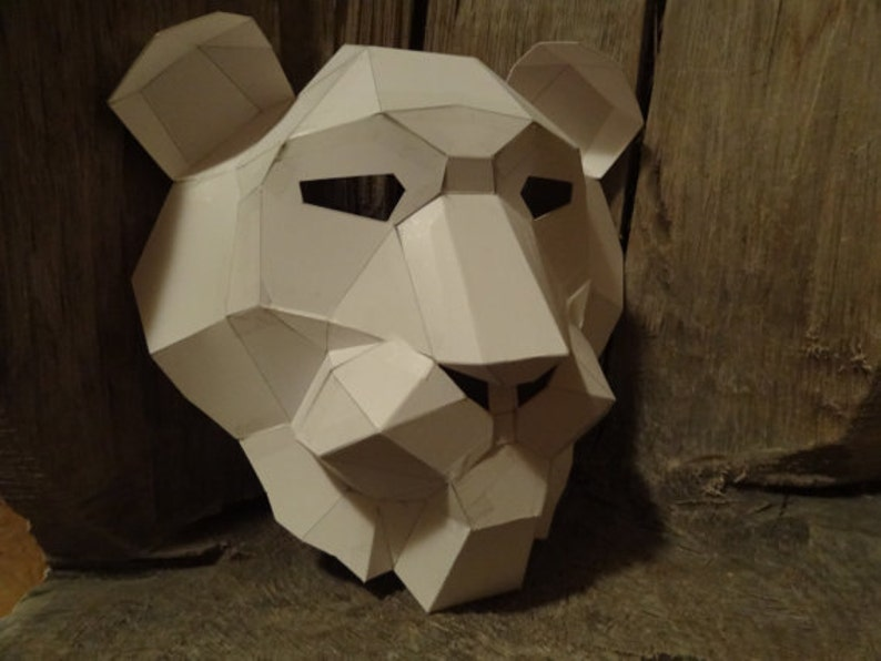 Make Your Own Lion mask from recycled paper PDF pattern PDF image 0