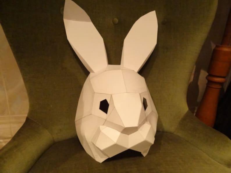 PDF Templates DIY Halloween mask PDF Pattern Hare mask Rabbit mask