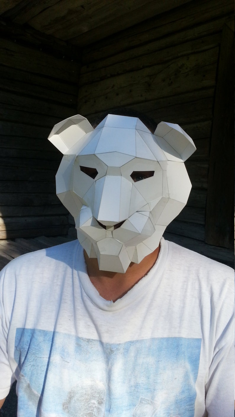 DIY Halloween mask, Lion head mask , lion costume, Make your own mask,  Instant Download