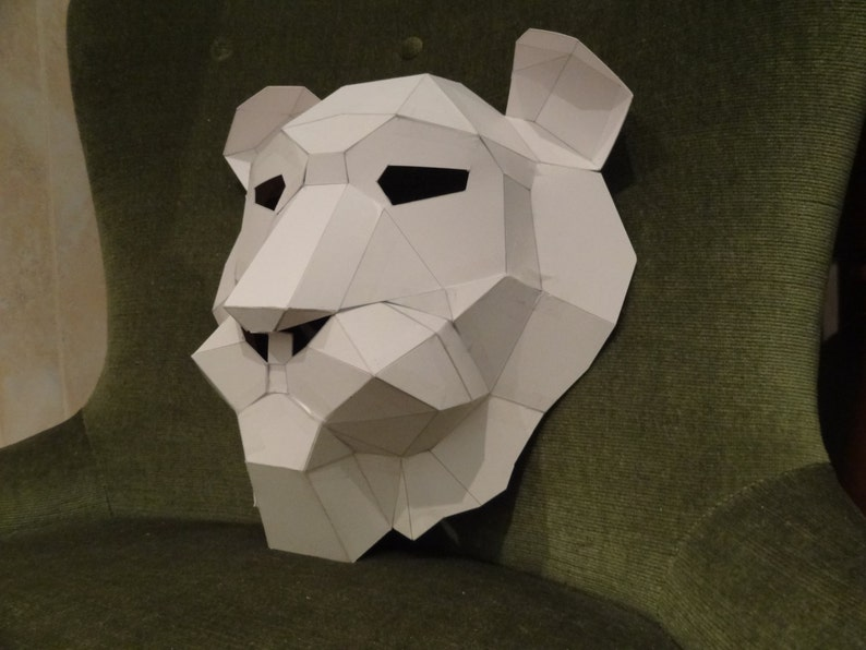 Printable Mask, How to make the Lion mask, lion costume, Instant Download,  3D mask, Printable Templates